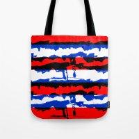 tye dye Tote Bags featuring DYE AMERICA by Lucas Schievenin