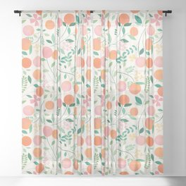 Vanilla Peaches Sheer Curtain