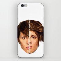 tegan and sara iPhone & iPod Skins featuring TEGAN AND SARA by MGNFQ