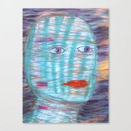 Plaid Head Canvas Print