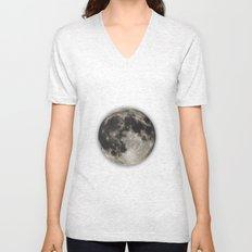 The Moon  [Sans Type] Unisex V-Neck