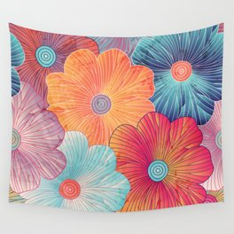 Big flowers Wall Tapestry