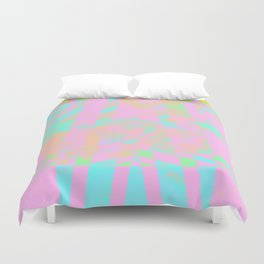 Clouds Mingle with Lines 5 Duvet Cover
