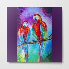 Parrots Metal Print