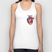 american Tank Tops featuring American  by Nate4D7