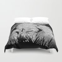 the hound Duvet Covers featuring Hound by hardy mayes