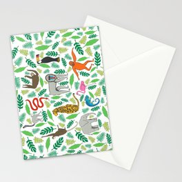 Animals in the Jungle Stationery Cards
