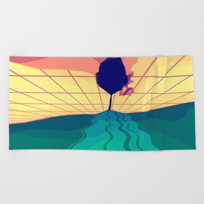 Over the Horizon Beach Towel