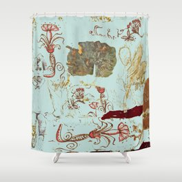 Isabel nostalgic Shower Curtain
