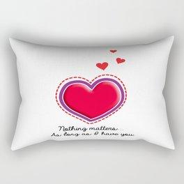 Love is all that matters Rectangular Pillow