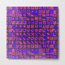 Abstract Pixel Combo Metal Print