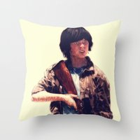 carl sagan Throw Pillows featuring Carl  by ConnorEden