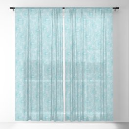 shoal of fish in the turquoise ocean Sheer Curtain