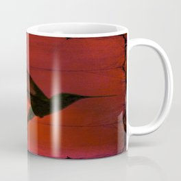Hummingbird Behind the Red Blinds by CheyAnne Sexton Coffee Mug