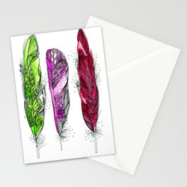 Dream Feathers 3 Stationery Cards