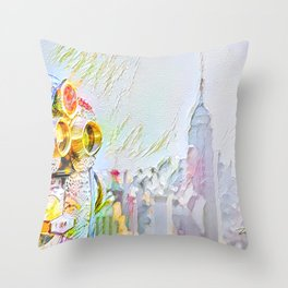 New York Colore Throw Pillow