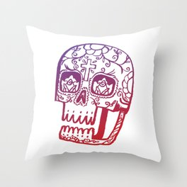 Day of the Deads - colored Throw Pillow