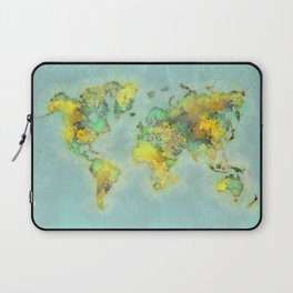 world map 112 #worldmap #world #map Laptop Sleeve