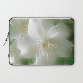 White Shiny Jasmine Laptop Sleeve