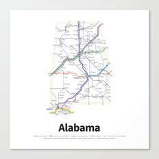 Highways of the USA – Alabama Canvas Print
