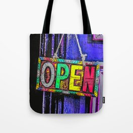 Psychedelic Open Sign Tote Bag