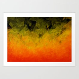 Sunset Abstract Facets Art Print