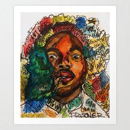 rapper,lyric,smoke,wall art,fan art,music,hiphop,rap,rapper,legend,shirt,print,chancee Kunstdrucke