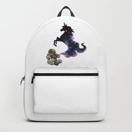 Astronaut Rubs a Wonder Lamp and a Unicorn Appears Backpack