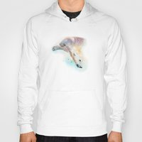 swimming Hoodies featuring Swimming by Petra