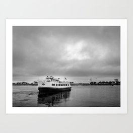 Ruturn to the shore before the storm Art Print