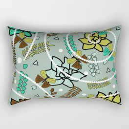 Spring butterflies, flowers and beads Rectangular Pillow