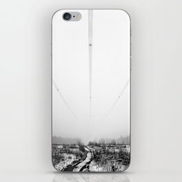 Power Lines & Fog iPhone Skin