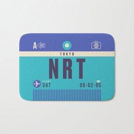 Retro Airline Luggage Tag - NRT Tokyo Narita Bath Mat