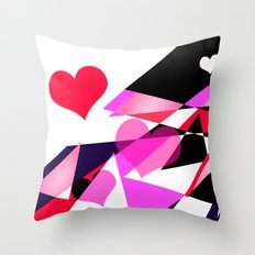Single Track to Love 1 Throw Pillow