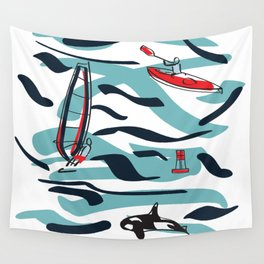 A Day on the Water Wall Tapestry