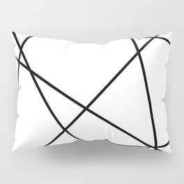 Lines in Chaos II - White Pillow Sham