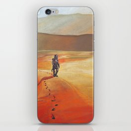 The Martian Mars walk inspired chalk drawing iPhone Skin