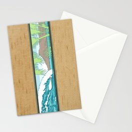 Ala Moana Diamond Head Hawaiian Surf Sign Stationery Cards