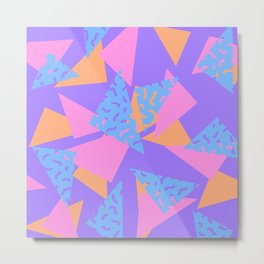 90's Triangles and Squiggles II Metal Print