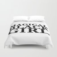 magical girl Duvet Covers featuring Magical Black Girl™  by Evelyn From The Internets