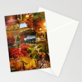 autumn three Stationery Cards