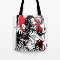 witchcraft Tote Bags featuring Witchcraft by edison zhou