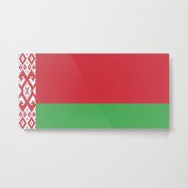 Belarus Flag Metal Print