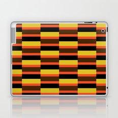 Orange stripe pattern Laptop & iPad Skin