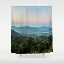 The Morning Mists Shower Curtain