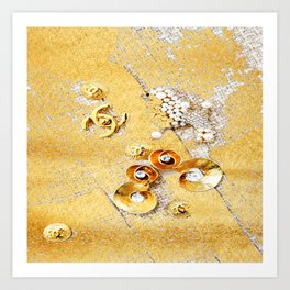 COCO GLAMOUR AND VINTAGE ACCESORIES Art Print