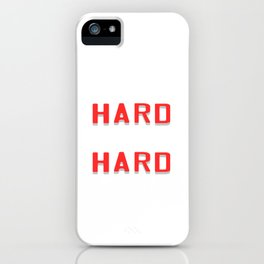 "Are You A Hard Working Person? A Perfect Tee For You Saying "" Work Hard Pray Hard"" T-shirt Strong  iPhone Case"
