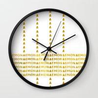 lemon Wall Clocks featuring Lemon by ARTbyJWP