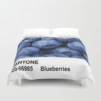 pantone Duvet Covers featuring PANTONE - Blueberries by Et Voilà