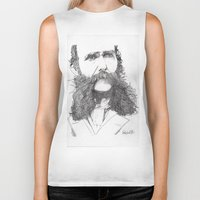 moustache Biker Tanks featuring Moustache by Paul Nelson-Esch Art
